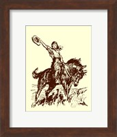 Framed Small Cowgirl