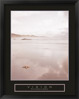Framed Vision - Foggy Beach