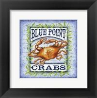 Framed Seafood Sign I