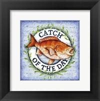 Framed Seafood Sign II