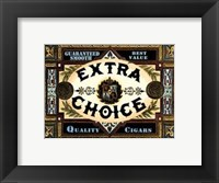 Framed Extra Choice Cigars