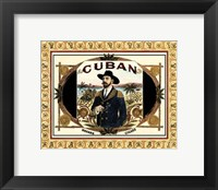 Framed Cuban Cigars