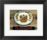 Framed El Matador Cigars
