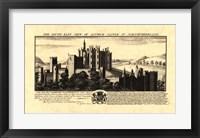 Framed Vintage Alnwick Castle