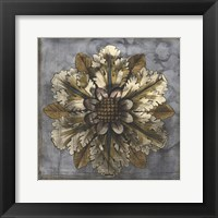Framed Rosette & Damask I