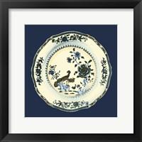 Framed Porcelain Plate IV