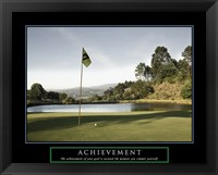 Framed Achievement-Golf Commit Yourself