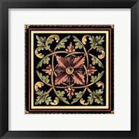 Framed Decorative Tile Design III