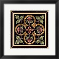 Framed Decorative Tile Design IV