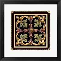 Framed Decorative Tile Design VI