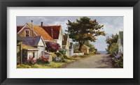 Framed Sunlit Side Street