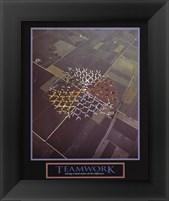 Framed Teamwork-Skydivers