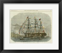 Framed Antique Clipper Ship I