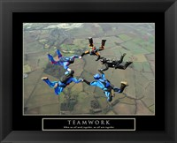 Framed Teamwork-Skydivers II