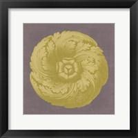 Framed Gilded Rosette II