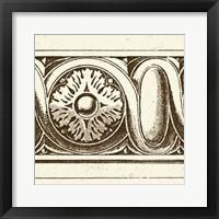 Framed Sepia Detail V