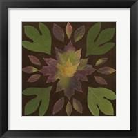 Framed Kaleidoscope Leaves I