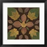 Framed Kaleidoscope Leaves II