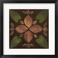 Framed Kaleidoscope Leaves III