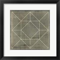 Framed Geometric Blueprint VIII