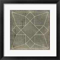 Framed Geometric Blueprint IX