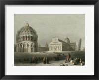 Framed Baptistry, Cathedral &Leaning Tower