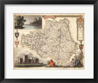 Framed Map of Durham