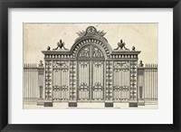 Framed Neufforge Gate III