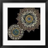 Framed Midnight Rosette I
