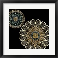 Framed Midnight Rosette II