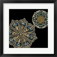 Framed Midnight Rosette III