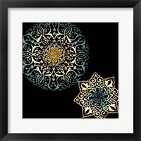 Framed Midnight Rosette IV