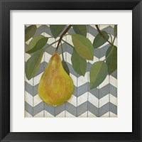 Fruit and Pattern II Framed Print