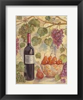Framed Wine with Pears