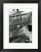 Framed Fishing Trawler- Cape May