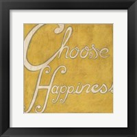 Framed Choose Happiness
