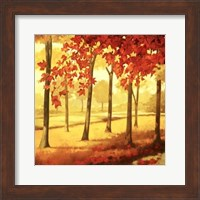 Framed Golden October I