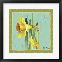 Framed Whimsical Flowers I