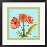 Framed Whimsical Flowers II