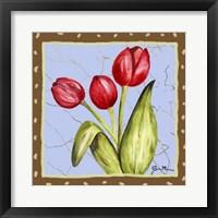Framed Whimsical Flowers IV