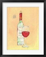 Framed Wine Collage II