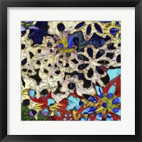 Framed Bejeweled Woodblock I