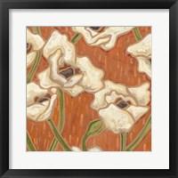 Framed Persimmon Floral I