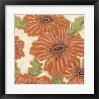 Persimmon Floral IV Framed Print