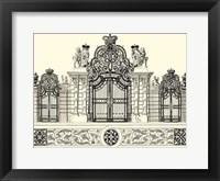 Framed B&W Grand Garden Gate I