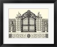 Framed B&W Grand Garden Gate II