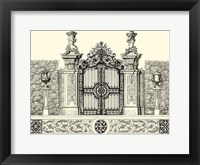 Framed B&W Grand Garden Gate III