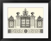 Framed B&W Grand Garden Gate IV