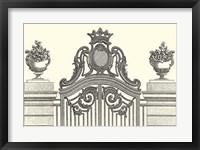 Framed Antique Briseux Gate I