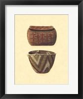 Framed Hand Woven Baskets I
